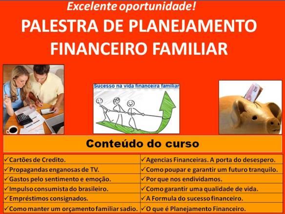 Palestra de Planejamento Financeiro Familiar