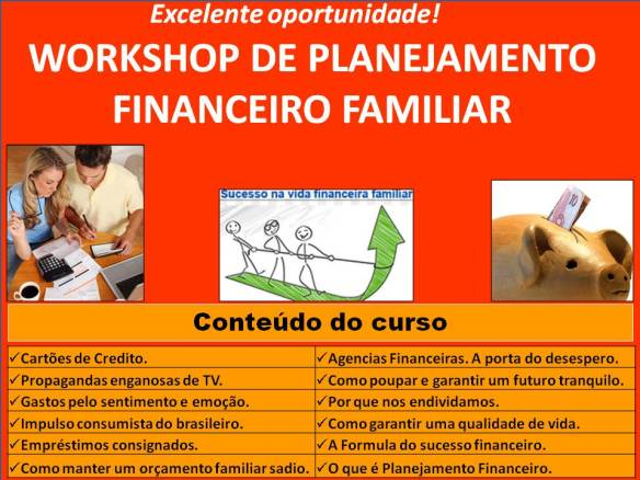 Workshop Planejamento Financeiro Familiar